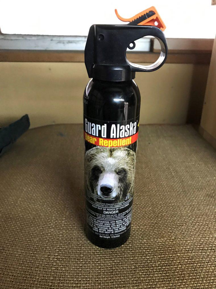 アラスカ産の熊避けスプレー「ガードアラスカ」の写真